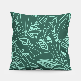 Thumbnail image of Minimal Jungle - tropical leaves Pillow, Live Heroes