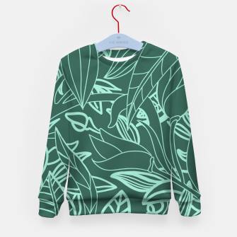 Miniatur Minimal Jungle - tropical leaves Kid's sweater, Live Heroes