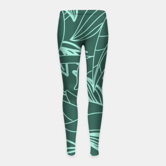 Thumbnail image of Minimal Jungle - tropical leaves Girl's leggings, Live Heroes