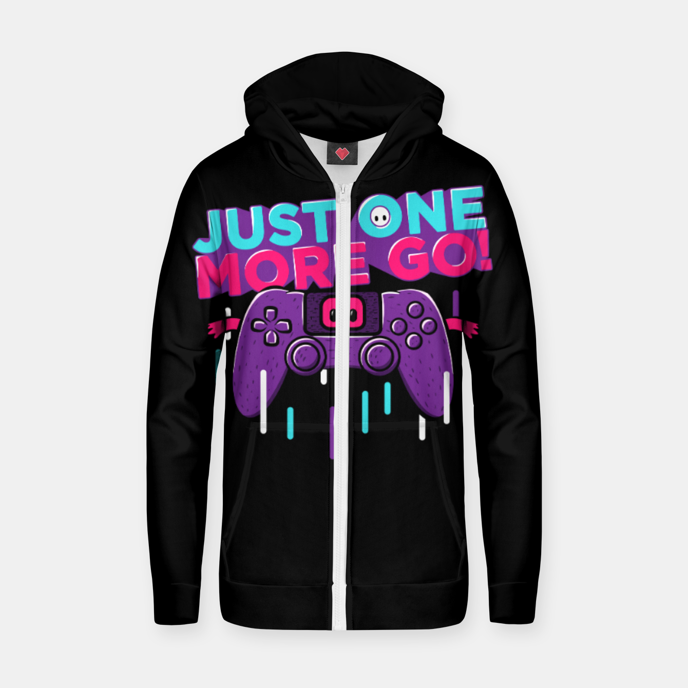 Image of One More Go Zip up hoodie - Live Heroes