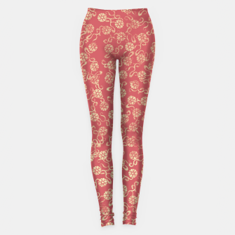 Thumbnail image of Washed Flowers Leggings, Live Heroes