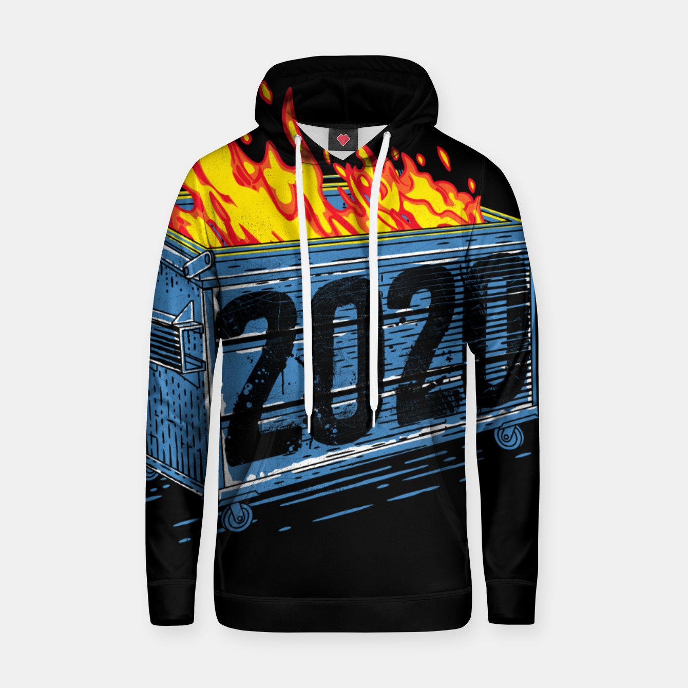 Image of Dumpster Fire Hoodie - Live Heroes