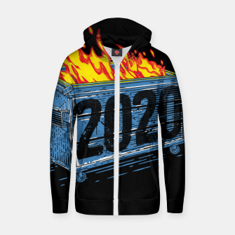 Thumbnail image of Dumpster Fire Zip up hoodie, Live Heroes