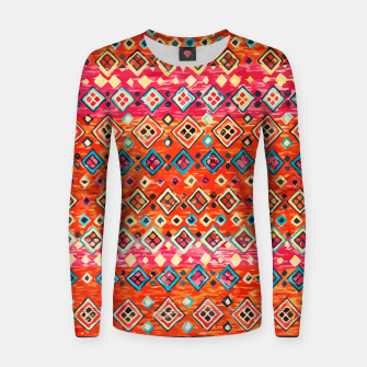 Thumbnail image of Bohemian Traditional Moroccan Style Illustration Women sweater, Live Heroes