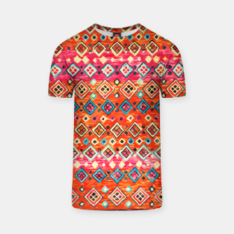 Thumbnail image of Bohemian Traditional Moroccan Style Illustration T-shirt, Live Heroes