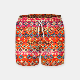 Thumbnail image of Bohemian Traditional Moroccan Style Illustration Swim Shorts, Live Heroes