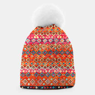 Thumbnail image of Bohemian Traditional Moroccan Style Illustration Beanie, Live Heroes