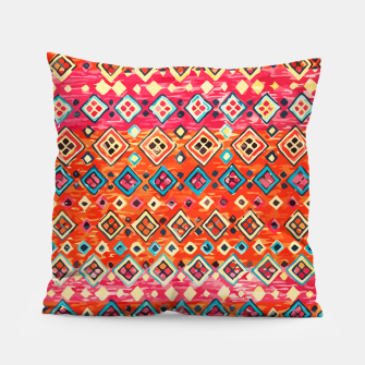 Thumbnail image of Bohemian Traditional Moroccan Style Illustration Pillow, Live Heroes