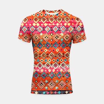 Thumbnail image of Bohemian Traditional Moroccan Style Illustration Shortsleeve rashguard, Live Heroes