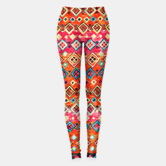 Thumbnail image of Bohemian Traditional Moroccan Style Illustration Leggings, Live Heroes