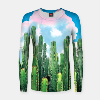 Thumbnail image of Cactus Summer Women sweater, Live Heroes