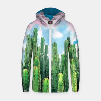 Thumbnail image of Cactus Summer Zip up hoodie, Live Heroes