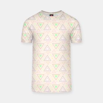 Thumbnail image of Bubble gum pink summer mornings, pastel colors geometric pattern T-shirt, Live Heroes