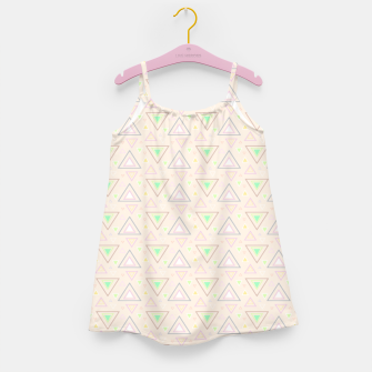 Thumbnail image of Bubble gum pink summer mornings, pastel colors geometric pattern Girl's dress, Live Heroes