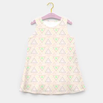 Thumbnail image of Bubble gum pink summer mornings, pastel colors geometric pattern Girl's summer dress, Live Heroes