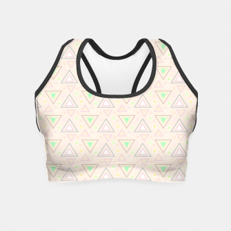 Thumbnail image of Bubble gum pink summer mornings, pastel colors geometric pattern Crop Top, Live Heroes