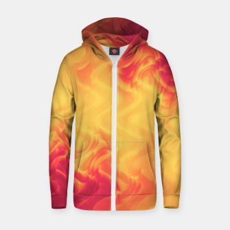 Thumbnail image of The volcano, abstract eruption and fire flames in hot colors Zip up hoodie, Live Heroes