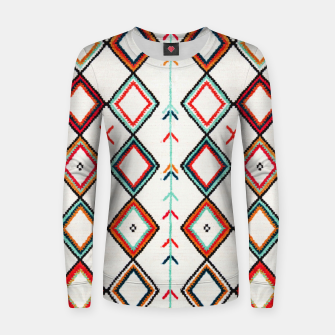 Miniatur Traditional Oriental Moroccan Farmhouse Style Design Women sweater, Live Heroes