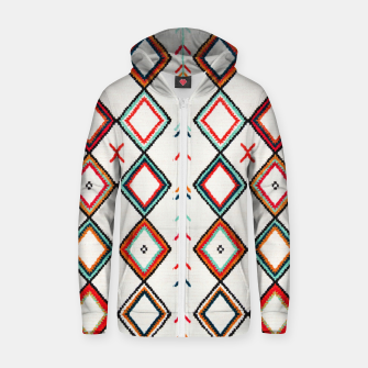 Thumbnail image of Traditional Oriental Moroccan Farmhouse Style Design Zip up hoodie, Live Heroes