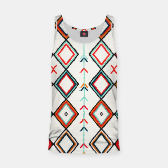 Miniatur Traditional Oriental Moroccan Farmhouse Style Design Tank Top, Live Heroes