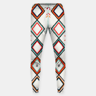 Miniatur Traditional Oriental Moroccan Farmhouse Style Design Sweatpants, Live Heroes