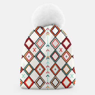 Thumbnail image of Traditional Oriental Moroccan Farmhouse Style Design Beanie, Live Heroes