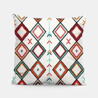 Miniatur Traditional Oriental Moroccan Farmhouse Style Design Pillow, Live Heroes