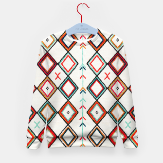 Thumbnail image of Traditional Oriental Moroccan Farmhouse Style Design Kid's sweater, Live Heroes