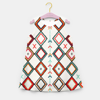 Thumbnail image of Traditional Oriental Moroccan Farmhouse Style Design Girl's summer dress, Live Heroes