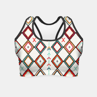 Miniatur Traditional Oriental Moroccan Farmhouse Style Design Crop Top, Live Heroes