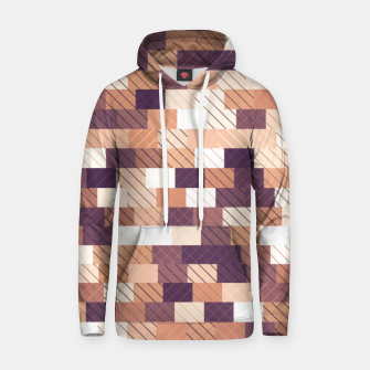 Miniaturka Solid brick wall with diagonal crossed lines, redwod and eggplant colored print Hoodie, Live Heroes