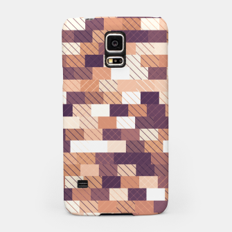 Imagen en miniatura de Solid brick wall with diagonal crossed lines, redwod and eggplant colored print Samsung Case, Live Heroes