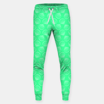 Thumbnail image of Tropical shells pattern in seafoam green, summer fresh print Sweatpants, Live Heroes