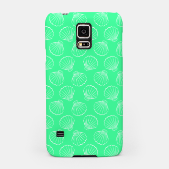 Thumbnail image of Tropical shells pattern in seafoam green, summer fresh print Samsung Case, Live Heroes