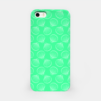 Thumbnail image of Tropical shells pattern in seafoam green, summer fresh print iPhone Case, Live Heroes