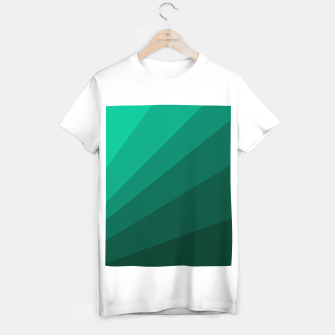 Thumbnail image of Sea green folding hand fan, fresh and simple summer tropical mood design T-shirt regular, Live Heroes