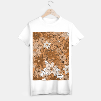 Thumbnail image of Autumn mood with flowers and leaves in brown and beige romantic illustration and a little bit nostalgia T-shirt regular, Live Heroes