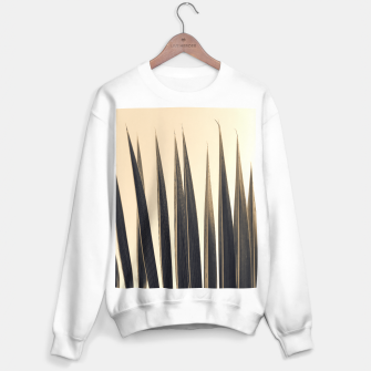 Thumbnail image of Palm leaf soft colors photography Sweater regular, Live Heroes