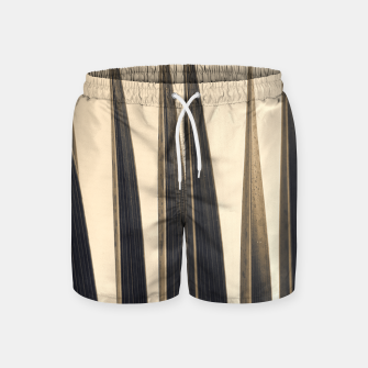 Thumbnail image of Palm leaf soft colors photography Swim Shorts, Live Heroes