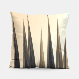 Thumbnail image of Palm leaf soft colors photography Pillow, Live Heroes
