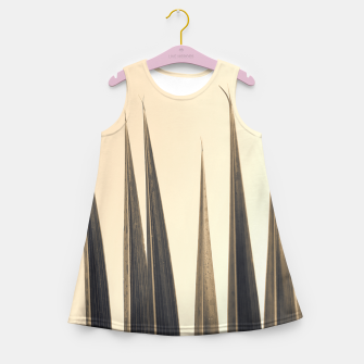 Thumbnail image of Palm leaf soft colors photography Girl's summer dress, Live Heroes