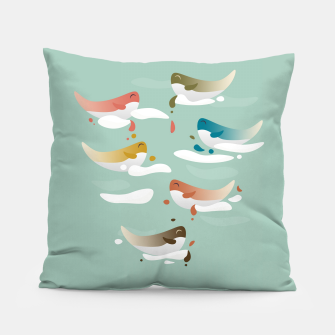 Miniaturka Whales fly in 1970 Pillow, Live Heroes