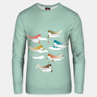 Miniaturka Whales fly in 1970 Unisex sweater, Live Heroes