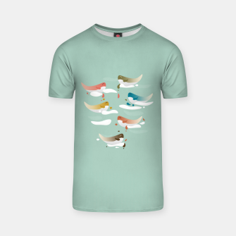 Miniaturka Whales fly in 1970 T-shirt, Live Heroes