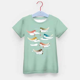 Miniaturka Whales fly in 1970 Kid's t-shirt, Live Heroes