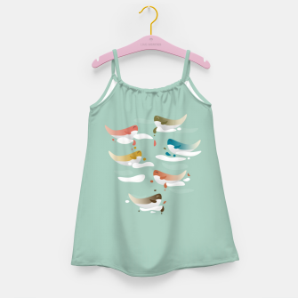 Miniaturka Whales fly in 1970 Girl's dress, Live Heroes
