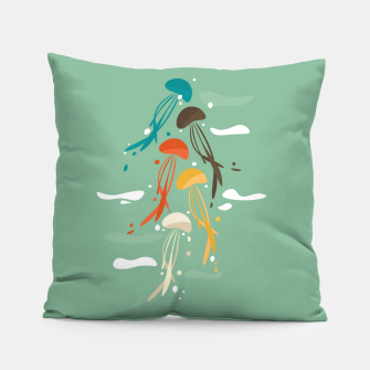 Miniature de image de Jellyfish ascend the sky Pillow, Live Heroes
