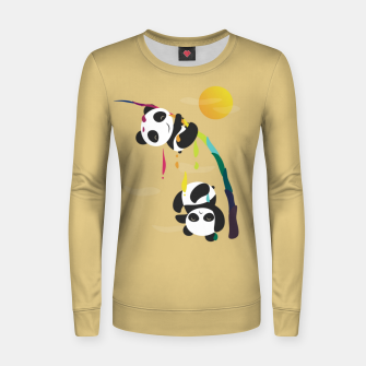 Thumbnail image of Pandas meet a strange rainbow Women sweater, Live Heroes