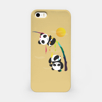 Thumbnail image of Pandas meet a strange rainbow iPhone Case, Live Heroes