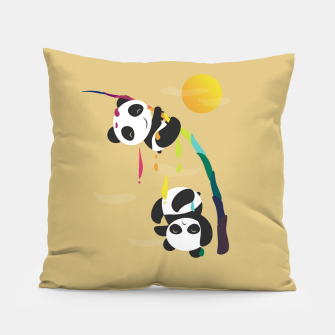 Thumbnail image of Pandas meet a strange rainbow Pillow, Live Heroes
